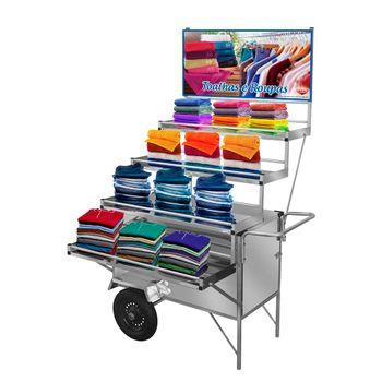 carrinho-expositor-inox-cefaz-toalhas-roupas