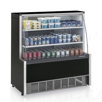 Vitrine-Refrigerada-Universal-1-Placa-Fria-GPSA-110R-PR-Preta-Linha-Aurora-Vidro-Reto-Gelopar