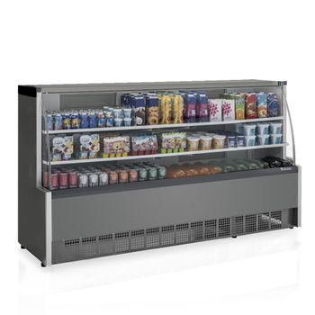 Vitrine-Refrigerada-Universal-1-Placa-Fria-GPSA-205R-TI-Tipo-Inox-Linha-Aurora-Vidro-Reto-Gelopar