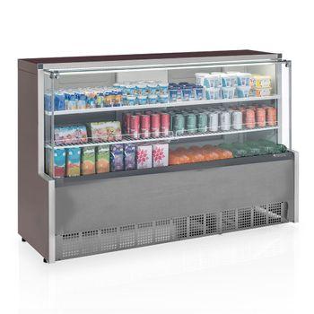 Vitrine-Refrigerada-Universal-2-Placas-Frias-GPDA-175R-TI-Tipo-Inox-Linha-Aurora-Vidro-Reto-Gelopar-